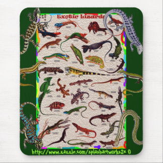 Exotic wild Lizards-Mouse Pad for the scientific Mouse Pad