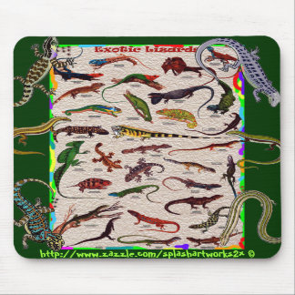 Exotic wild Lizards-Mouse Pad for the scientific