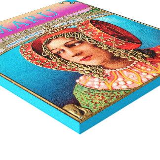 Exotic Woman Bohemian Poster Art Canvas Print