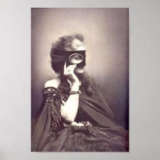 Exotic Woman Masquerade Poster