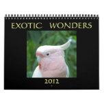 Exotic Wonders 2012 Calendar