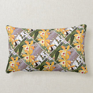 Exotic Yellow and Orange Orchid throw Pillow