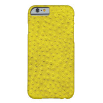 Exotic Yellow Ostrich Leather iPhone 6 Case