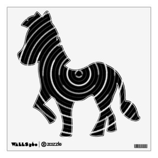 Exotic Zebra - Black and White Wall Decal