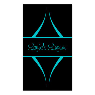 Exotica Curves Business Card, Aquamarine