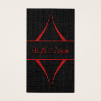 Exotica Curves Business Card, Red Business Card