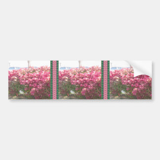 Exotice Flowers DIY TEMPLATE Giveaway Party GIFTS Car Bumper Sticker