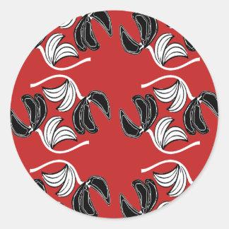 exoticfloweroutline classic round sticker