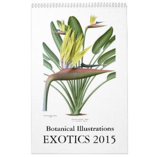 Exotics 2015 calendarios de pared