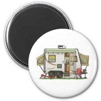 Expandable Hybred Trailer Camper 2 Inch Round Magnet