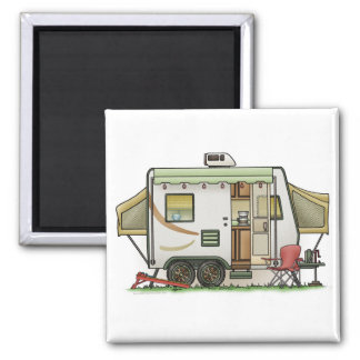 Expandable Hybred Trailer Camper 2 Inch Square Magnet