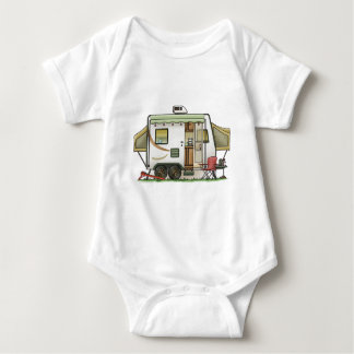 Expandable Hybred Trailer Camper Baby Bodysuit