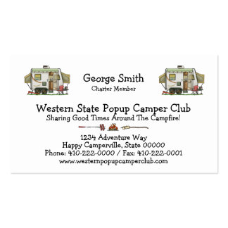 Expandable Hybred Trailer Camper Business Card