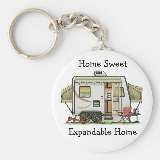 Expandable Hybred Trailer Camper Keychain