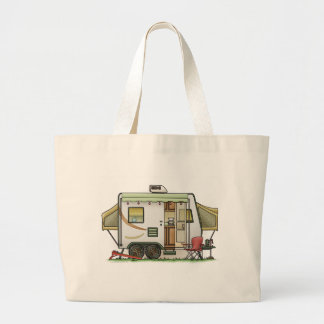 Expandable Hybred Trailer Camper Large Tote Bag