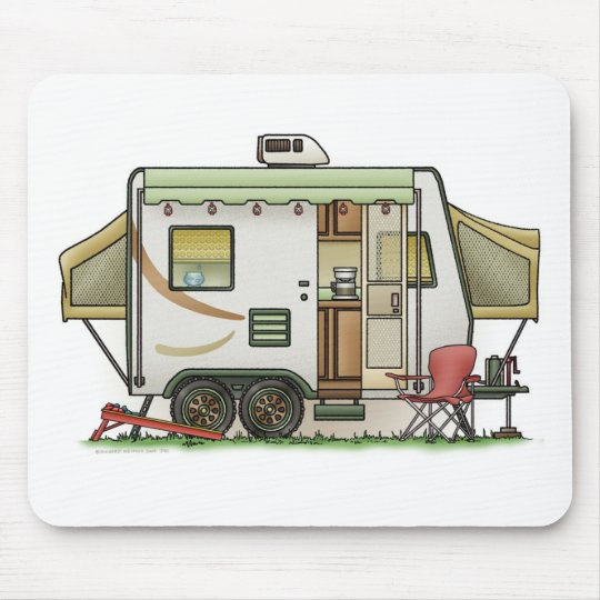 Expandable Hybred Trailer Camper Mouse Pad
