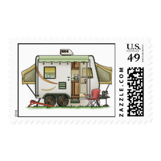 Expandable Hybred Trailer Camper Stamp