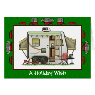 Expandable Hybred Trailer Holiday Wish Greeting Card