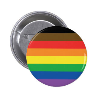 Expanded Gay Pride Rainbow Flag Customizable LGBT Pinback Button