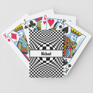 Expanded Optical Check Bicycle Playing Cards