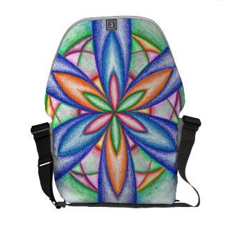 Expanding Flower Power Messenger Bag