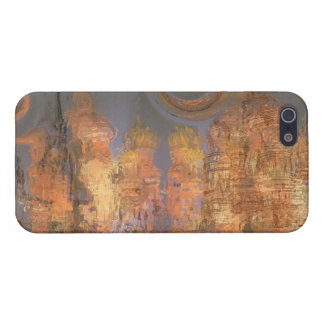 Expansion – Abstract Golden Shimmering City Dream iPhone 5 Case