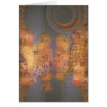 Expansion – Golden Shimmering City of Dream Greeting Card
