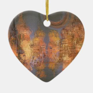Expansion – Golden Shimmering City of Dream Ceramic Ornament