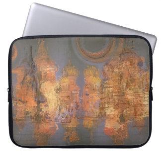 Expansion – Golden Shimmering City of Dream Laptop Sleeve