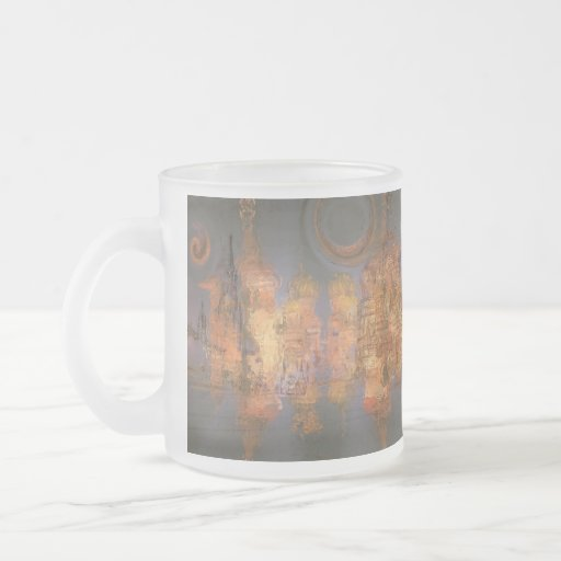 Expansion – Golden Shimmering City of Dream 10 Oz Frosted Glass Coffee Mug