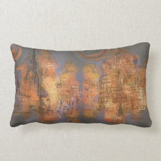 Expansion – Golden Shimmering City of Dream Throw Pillows