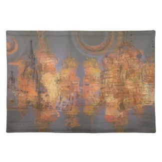 Expansion – Golden Shimmering City of Dream Placemat