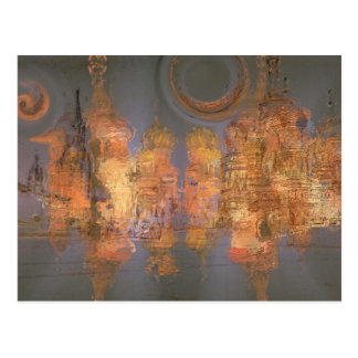Expansion – Golden Shimmering City of Dream Postcard