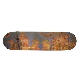Expansion – Golden Shimmering City of Dream Skateboard Deck