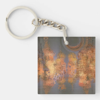 Expansion – Golden Shimmering City of Dream Square Keychain