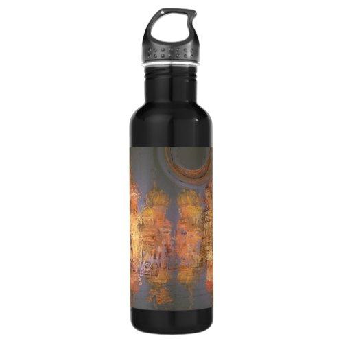 Expansion – Golden Shimmering City of Dream Water Bottle