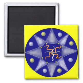 Expansion Mandala 2 Inch Square Magnet