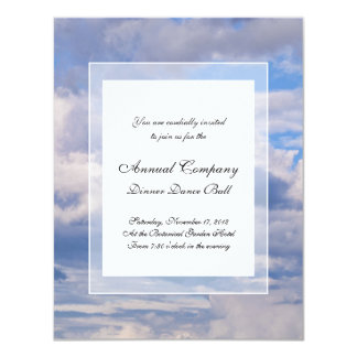 Expansive Blue Sky, Different Cloud Formations Card