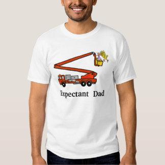 Expantant Dad Firetruck Tshirt