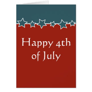 Expat or traveller Happy 4th of July Greeting Card
