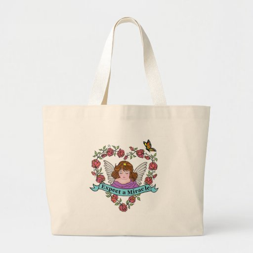 Expect a Miracle Large Tote Bag