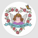 Expect a Miracle Round Stickers
