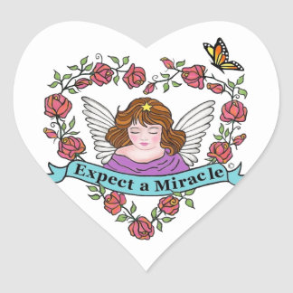 Expect a Miracle Heart Sticker