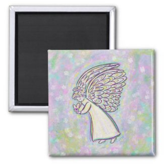 Expect Good Things Angel Art Custom Magnets