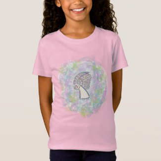 Expect Good Things Guardian Angel Art Girl T-Shirt