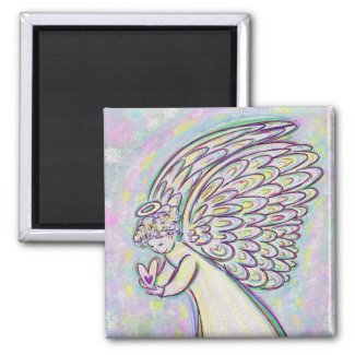 Expect Good Things Guardian Angel Art Magnets