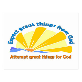 Expect great things from God, Attempt great things Postcard