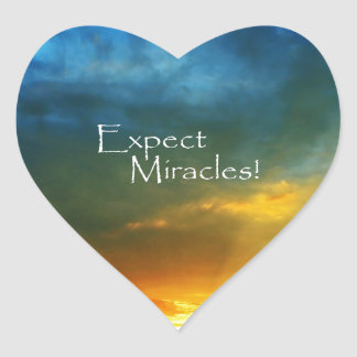 Expect Miracles! Heart Sticker