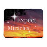 Expect Miracles Sparkle Sunset Get Well Soon Card Magnet