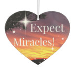 Expect Miracles Sparkle Sunset Inspirational Quote Air Freshener